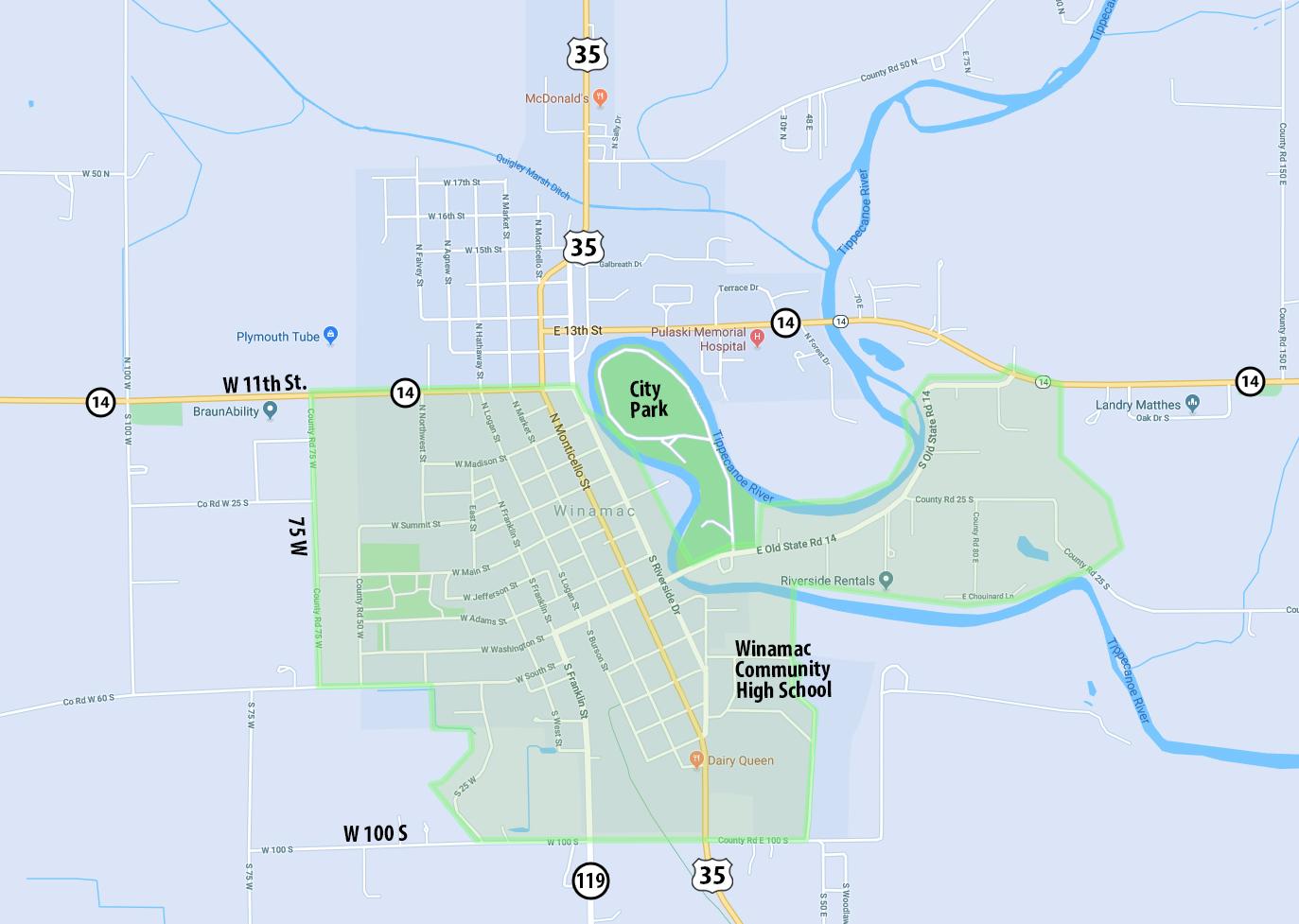Winamac Map