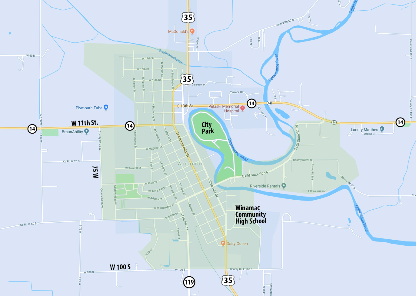 Winamac Residential Internet Map